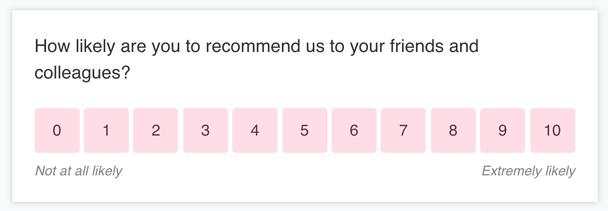 A classic NPS survey