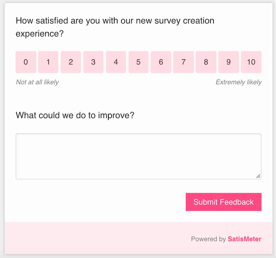 customer survey designer