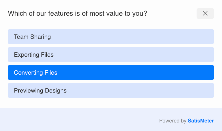 product team survey