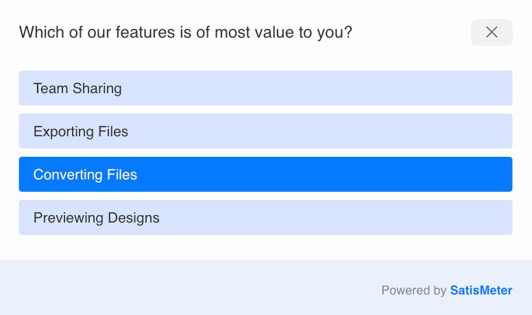 product team survey