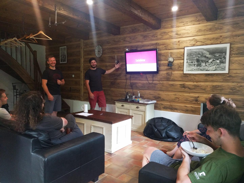 SatisMeter team retreat presentation