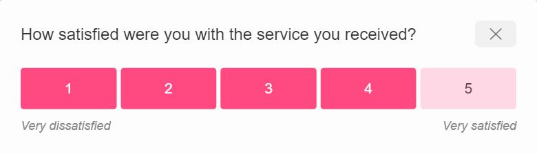 Customer Satisfaction Score (CSAT) - a customer survey example by SatisMeter